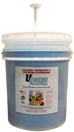 uScore Fundraising Blue Detergent 5 gallon