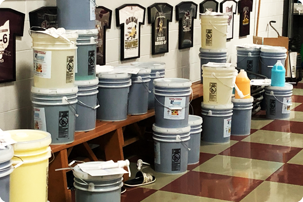 uScore laundry products at Genoa High School